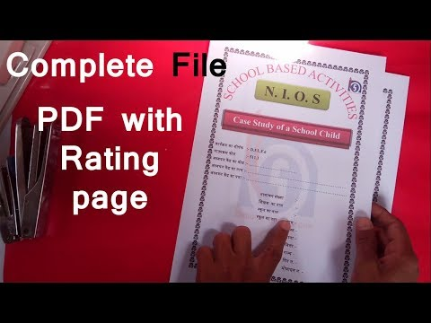 NIOS Deled case study of a school child  (SBA) Solved complete File with rating page  course 511.1