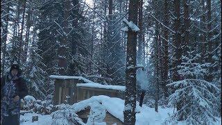 Два ДНЯ ЖИЗНИ РЫБОЛОВА Так МЫ ЖИВЁМ Землянка лес щука