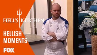 Hellish Moments: Jackie Gets In Kristin's Face   Season 15 Ep. 10   HELL'S KITCHEN