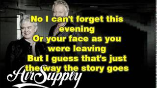 "Air Supply ""WITHOUT YOU"" Karaoke"