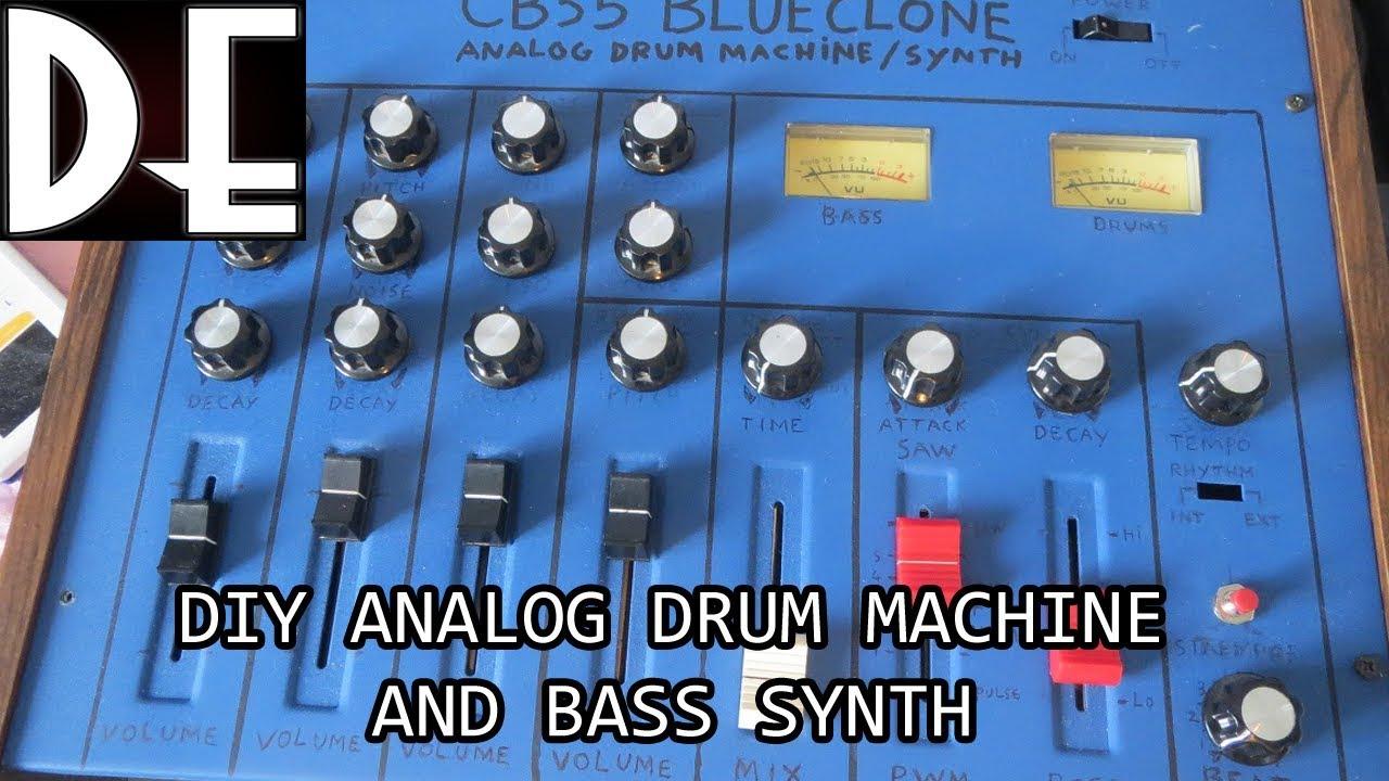 Blue Clone - DIY analog Drum Machine and Bass Synthesizer - WIP update 1