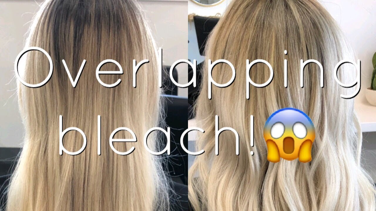 How To Safely Overlap Bleach Onto Blonde Hair Beauty School