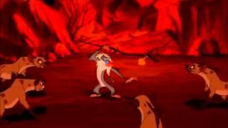 The Lion King - Rafiki Attacks Hyenas