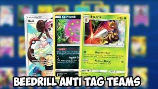 The BEST Anti Tag Team Deck! Beedrill/Spiritomb Deck! Cosmic Eclipse PTCGO
