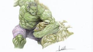 How To Draw Hulk vs Abomination Timelapse   Como Dibujar Hulk Contra Abominacion