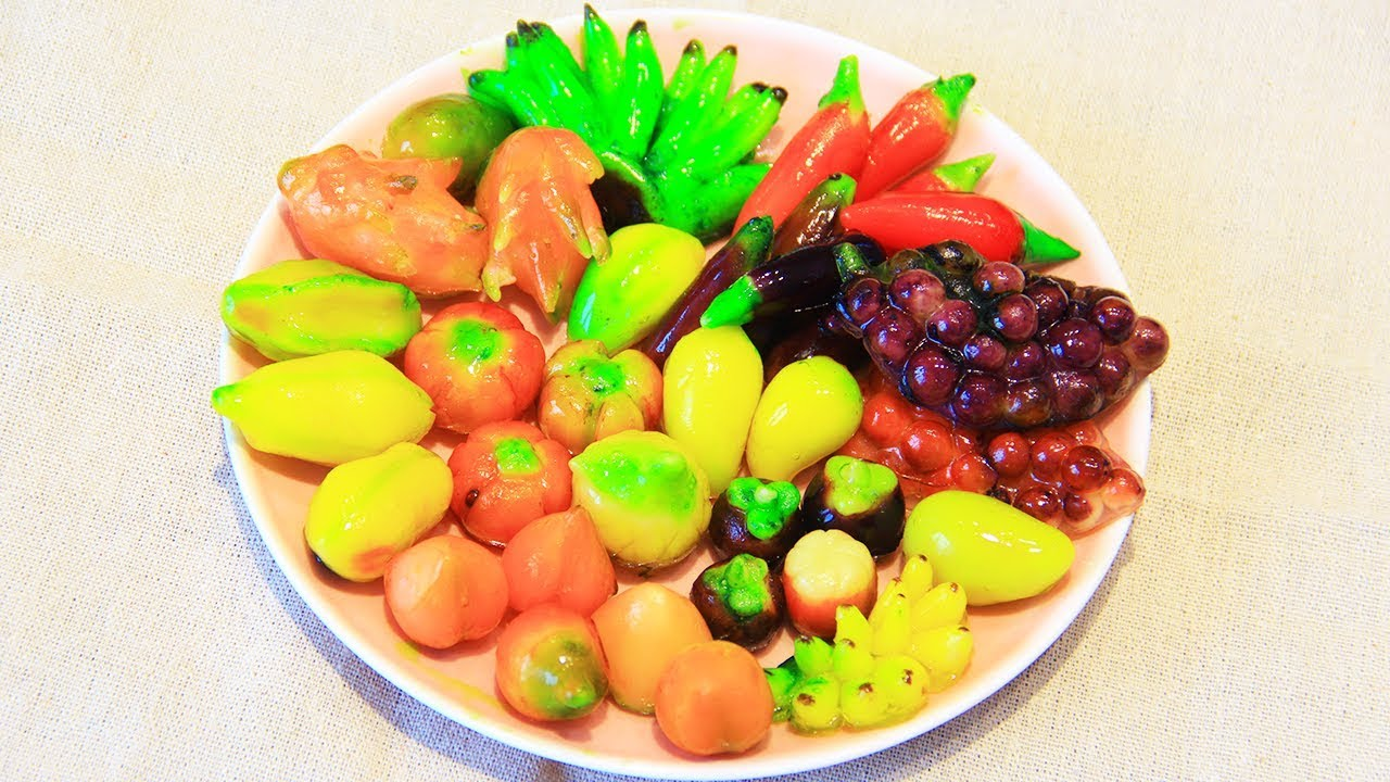 Cách Làm Bánh Đậu Xanh Trái Cây Đơn Giản, Bánh đậu xanh hình trái cây ngon nhất.