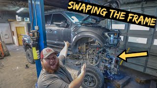 We Swap out Destroyed frame on 2019 Ford Raptor