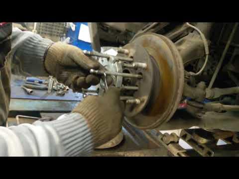 Ford Tranzit замена ступичного подшипника специнструментом