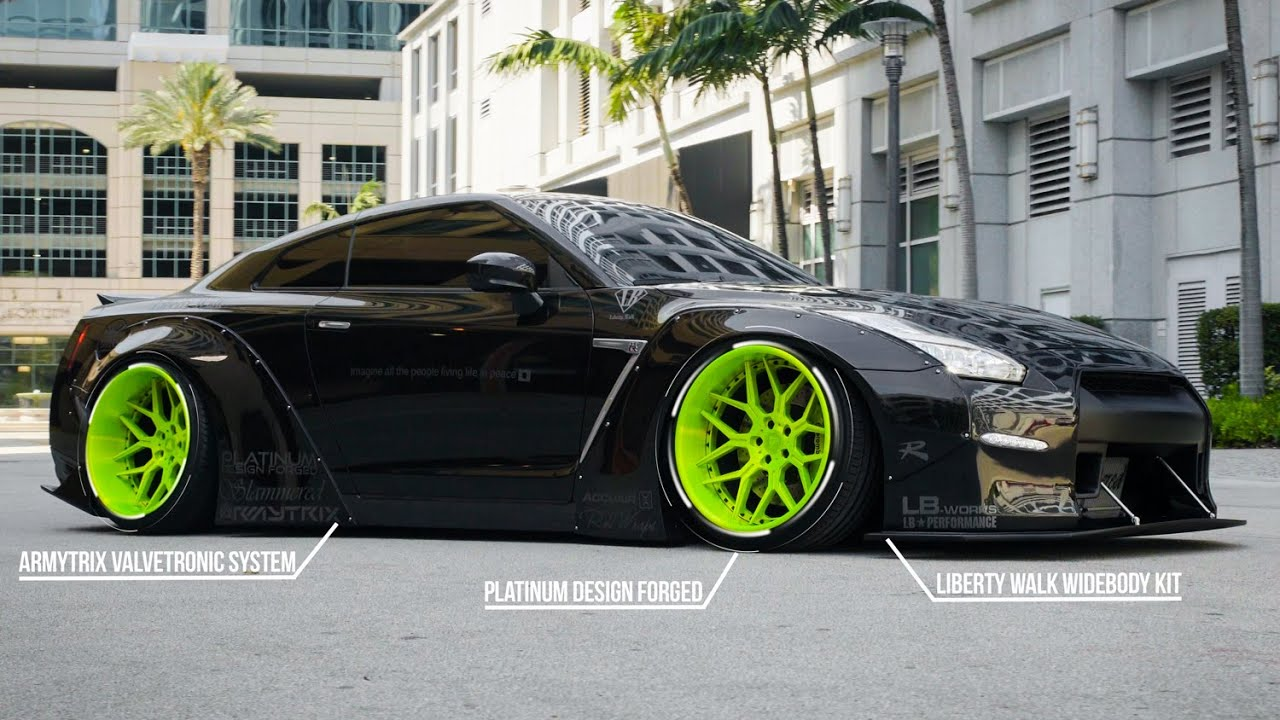 Liberty Walk Bagged Nissan Gtr Black Edition 4k Xn