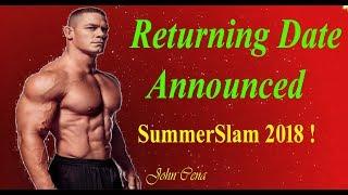 John Cena Returning Date Announced Officially || Summer slam Plan ! || SK Report  ||