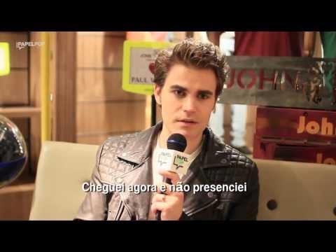 """Paul Wesley de """"Vampire Diaries"""" no Brasil - Entrevista Papelpop"""