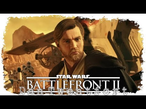 На карте Джеонозис(Geonosis) в роли Оби-Вана и AT-TE ☠ Star Wars: Battlefront 2