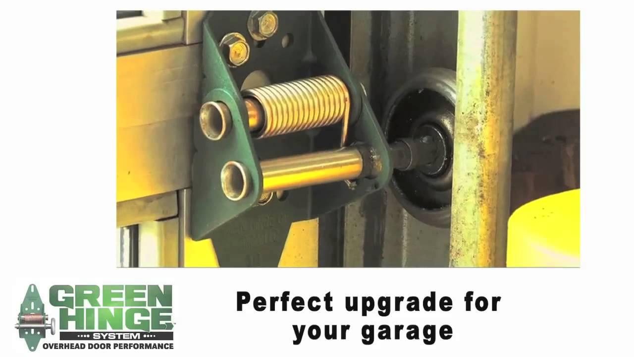 Sealing Overhead Garage Doors Green Hinge System Youtube