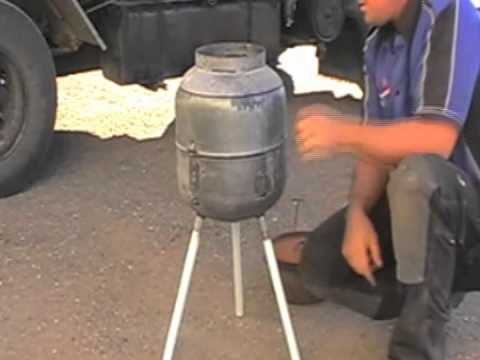 How to make a gas bottle bbq part 2 youtube for How to cut a bottle with fire