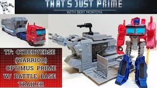 Cyberverse OPTIMUS PRIME with Battle Base Trailer Review!