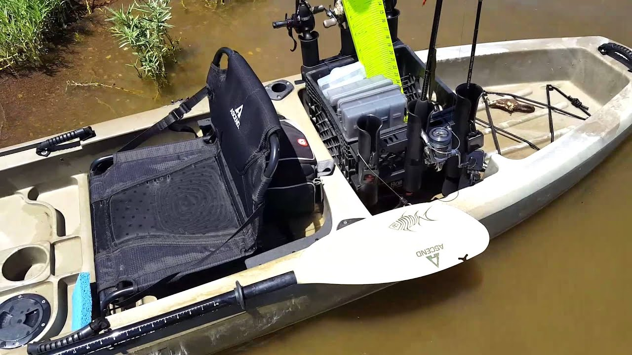 Ascend fs12t review youtube for Ascend fs12t fishing kayak