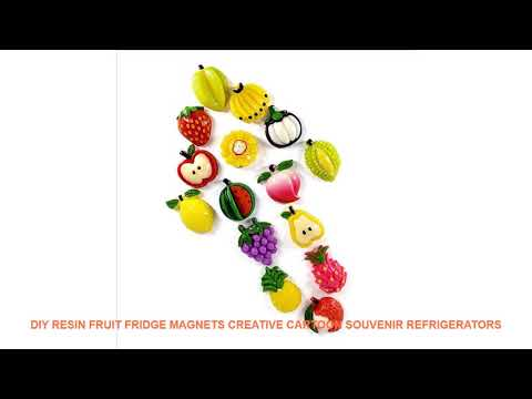 DIY Resin Fruit fridge magnets creative cartoon souvenir refrigerators