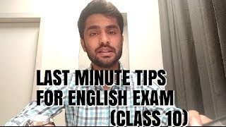 LAST MINUTE TIPS // ENGLISH EXAM // (CLASS 10) // EASY LEARNING WITH HIMAAL
