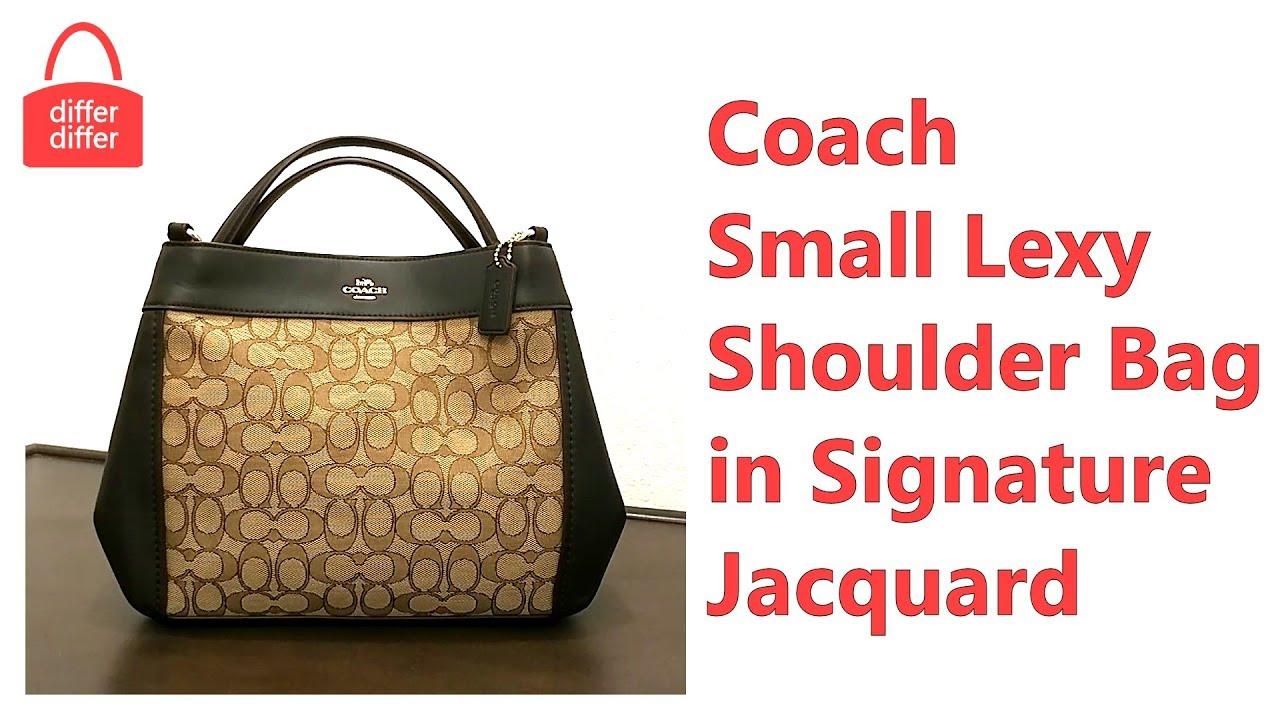 Coach 29548 Outline Signature Small Lexy Jacquard Leather Shoulder Crossbody Bag