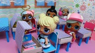 Школа для кукол ЛОЛ. Как  сделать.  Куклы лол BACK TO SCHOOL. MC Family