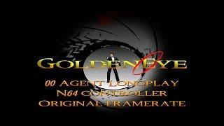 GoldenEye 007 N64 - 00 Agent Longplay (N64 Controller & Framerate)