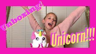 Lilly K Unboxing a UNICORN! Unicone Rainbow Swirl Maker!!