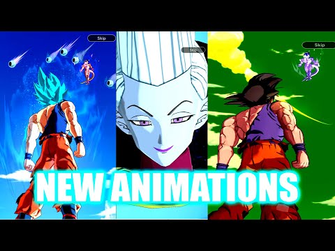 (Dragon Ball Legends) ALL NEW SUMMON ANIMATIONS!! WHIS, SUPER SAIYAN BLUE GOKU, NIMBUS AND MORE!
