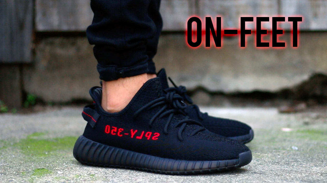 c8956bf6bdb ADIDAS YEEZY BOOST 350 V2  BRED   ON-FEET+REVIEW  - YouTube