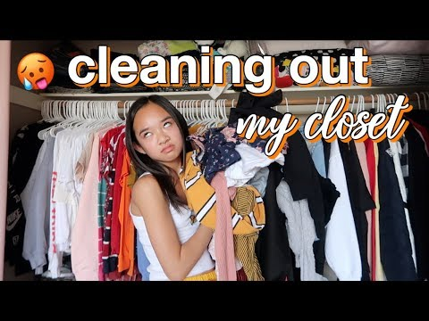 CLEANING OUT MY CLOSET | Nicole Laeno