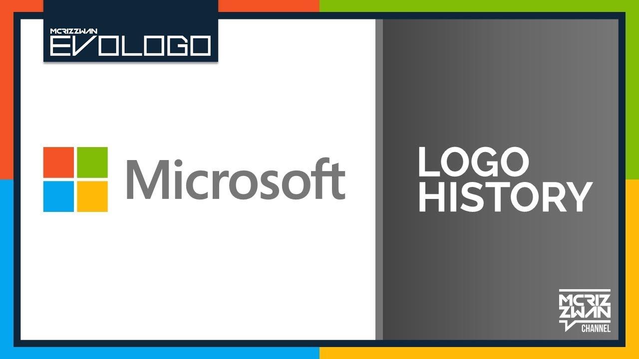 microsoft logo history evologo evolution of logo youtube
