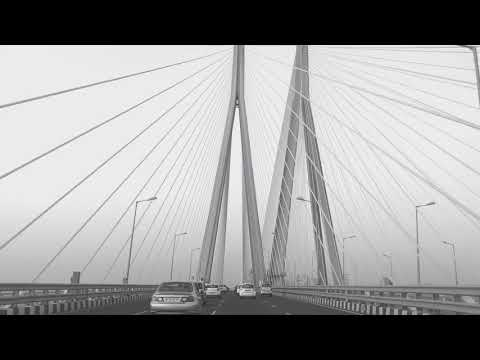 Mumbai sea link in black n white