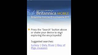 Encyclopedia Britannica Mobile 2011 app for Android