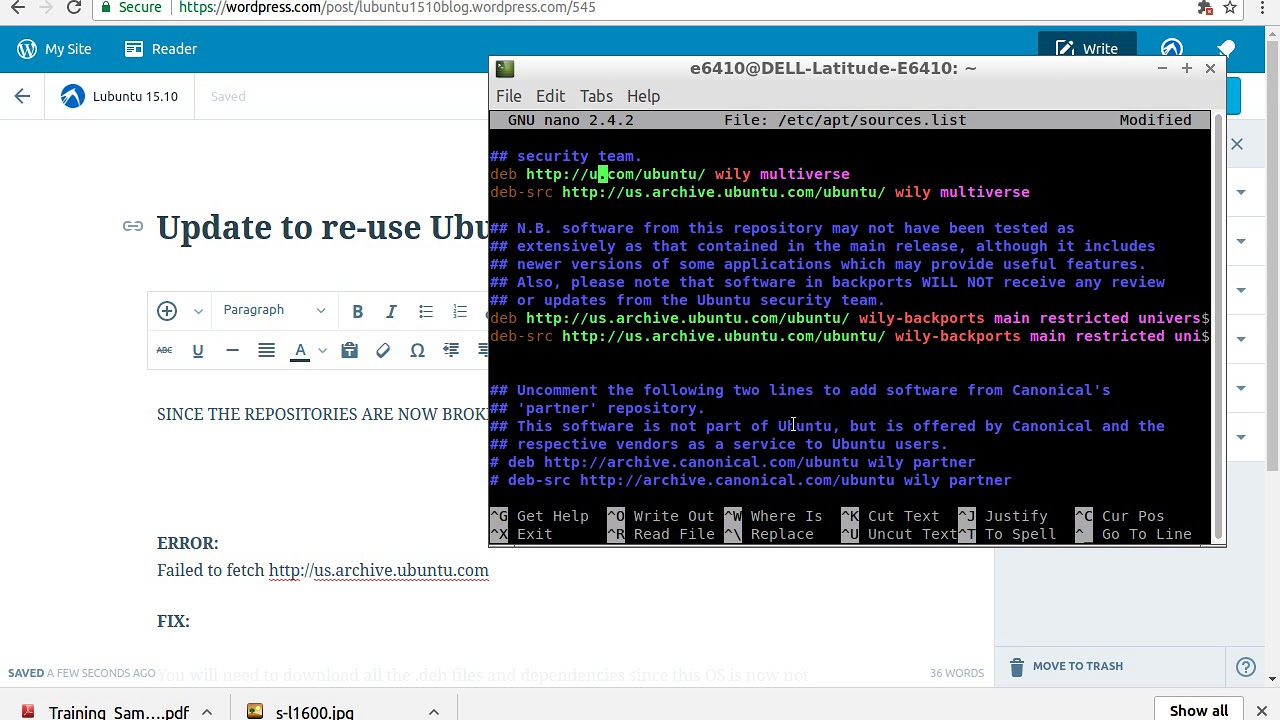 Updating sources list ubuntu