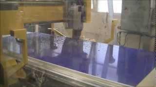 CNC Machine cutting Dibond sheet