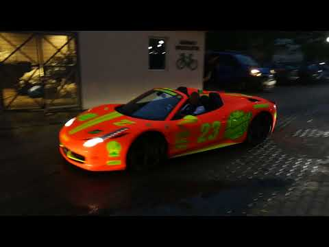 Supercars at JW Marriott Bucharest heading to the club