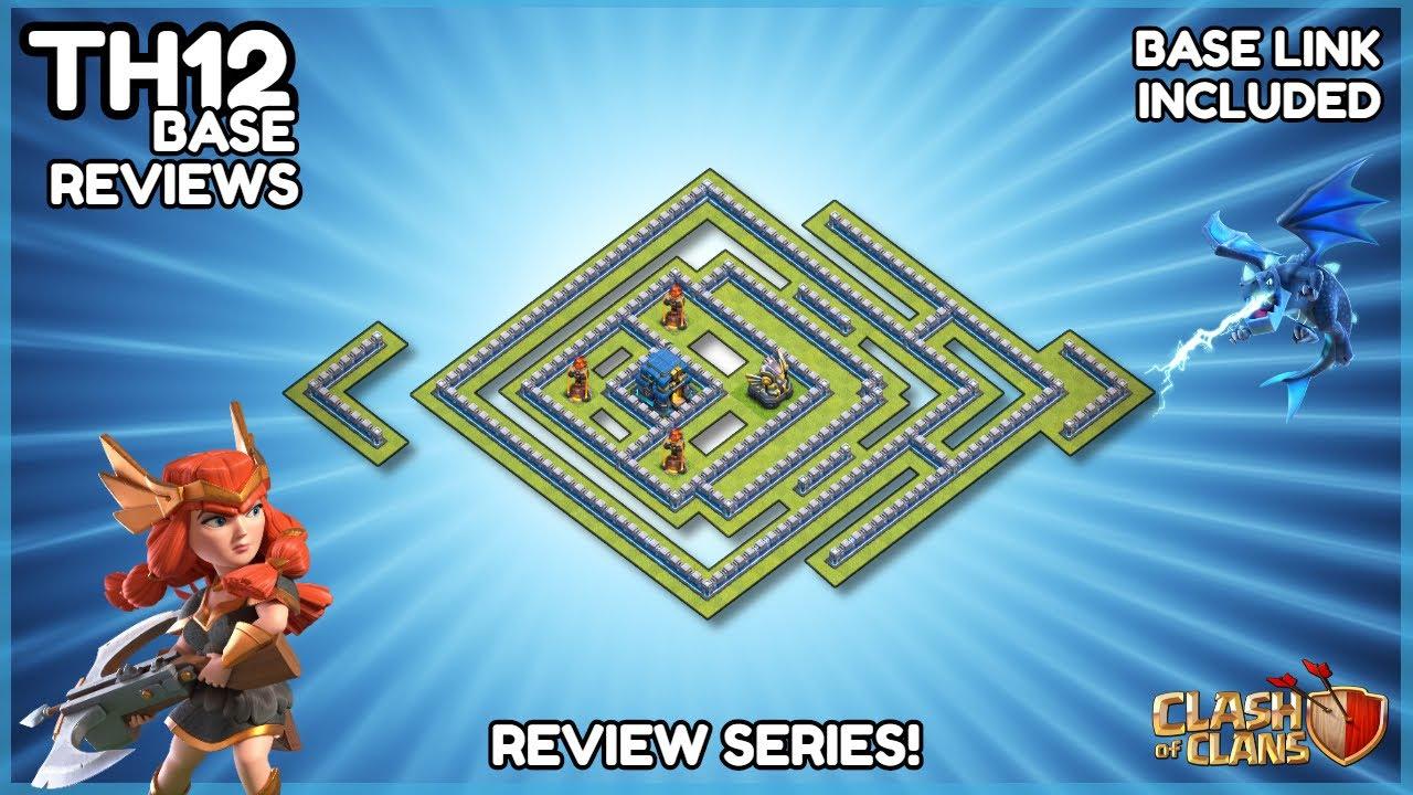 BEST NEW TH12 War Base - Legend League Replays & Layout Link