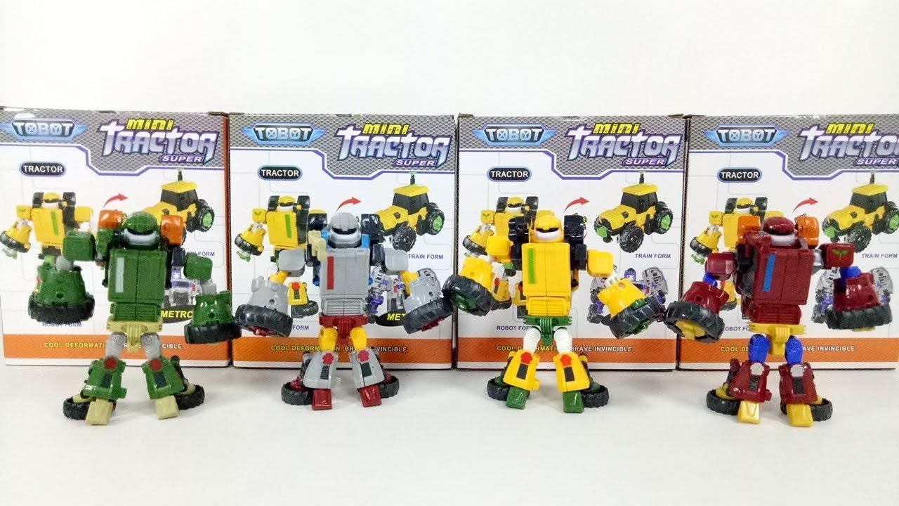 Tobot Toys Mini Tracktor Transformers