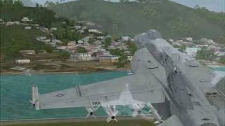 FS2004: The Superbug!  A F-18 Around The Caribbean Islands