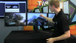 Xfx Triple Display Lcd Eyefinity Monitor Stand Product Showcase Ncix Tech Tips
