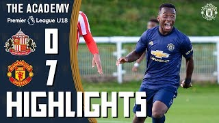 U18 Highlights | Sunderland 0-7 Manchester United | The Academy