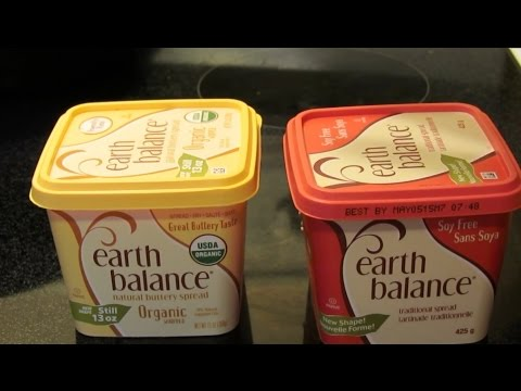 Earth balance: Organic whipped spread VS Soy free spread
