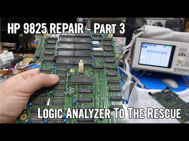HP 9825 Repair Part 3: HP Logic Analyzer to the Rescue