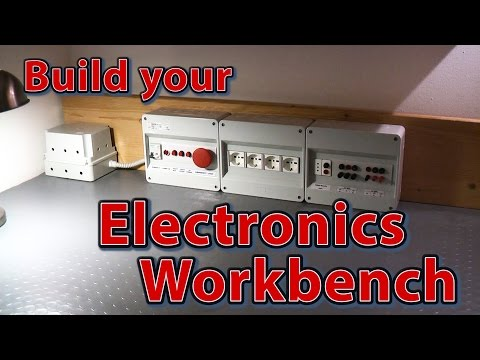 Electronics Workbench - How to build electrical panel for your electronics laboratory's workbench