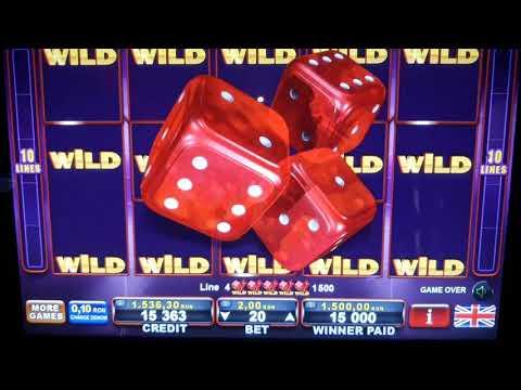 Dice & Roll wild screen ;  Big Win Egt Premier online game