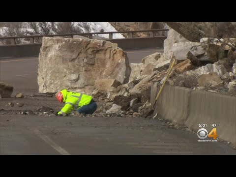 Rock Slide Closes Part Of I-70 In Glenwood Canyon