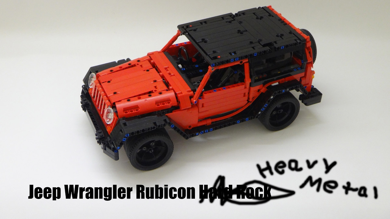 r c lego technic jeep wrangler rubicon heavy metal youtube. Black Bedroom Furniture Sets. Home Design Ideas
