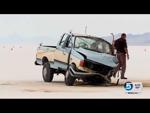 Fatal accident occurs on the Bonneville Salt Flats during 'Speed Week'