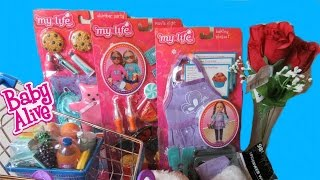 BABY ALIVE DOLL Walmart haul + My Life as Accessories + Shopping Cart and more!