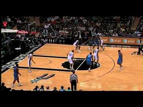 Thunder vs Spurs 2010 NBA Preseason 10/18/2010
