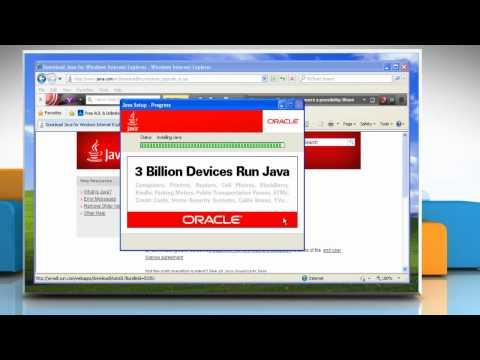 Windows® XP: Install Java® In Internet Explorer® 8